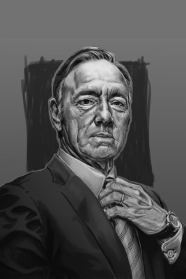 House of Cards - Frank Underwood Grey Artistic Paper Print