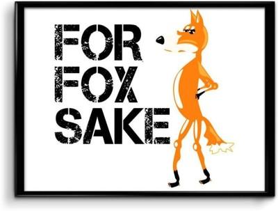 For Fox Sake Paper Print