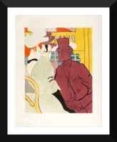 Tallenge Modern Masters Collection - An Englishman at the Moulin Rouge by Henri de Toulouse-Lautrec - Premium Quality A3 Size Framed Poster Paper Prin