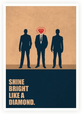 Shine Bright Like A Diamond Business Quotes Paper Print