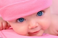 Cute Baby With Blue Eyes Poster Paper Print(12 inch X 18 inch, Rolled)
