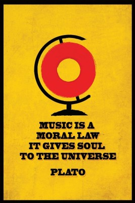 Athah Poster Music ss a Moral Law - Plato Paper Print