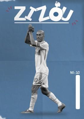 Athah Poster Zinedine Zidane Paper Print
