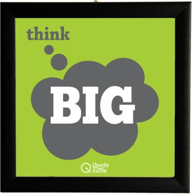 Think Big Square Framed Poster By Quotesutra Paper Print