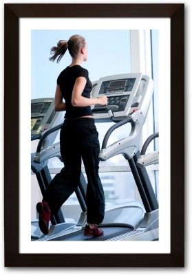 Framed Girl on Treadmill Paper Print(13 inch X 19 inch, Framed) available at Flipkart for Rs.745