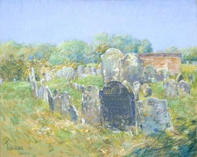 Colonial Graveyard at Lexington, 1891 (Medium) Paper Print