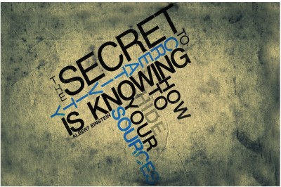 Athah Poster Secret of Knowing Paper Print