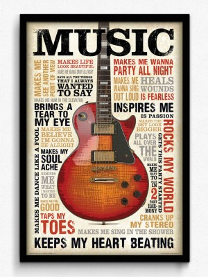 bCreative Music Inspires Me (Officially Licensed) Framed Paper Print
