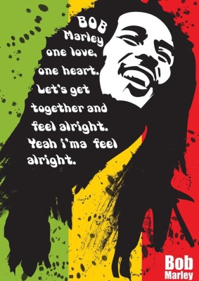 Athah Fine Quality Poster sk Bob Marley ,One Love, Paper Print
