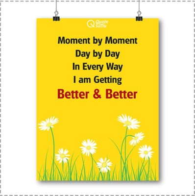 Moment By Moment Affirmation A3 Sized Poster By QuoteSutra Paper Print