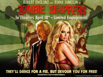 Movie Zombie Strippers Zombie Jenna Jameson HD Wall Poster Paper Print