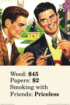 Posterhouzz Weed Papers Smoking With Friends Poster Fine Art Print