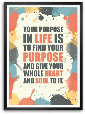Life Give Heart Ans Soul Buddha Quotes Paper Print
