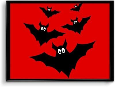 Scared bats Canvas Art