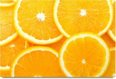 The Orange Slice Pattern Paper Print