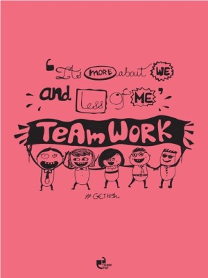 Its More About We And Less Of Me Doodle Motivational Poster Paper Print