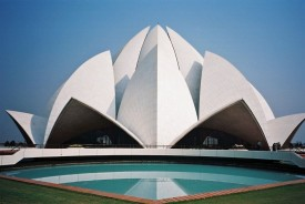 Lotus Temple Beautiful poster Paper Print(18 inch X 12 inch)