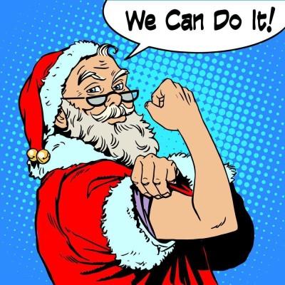 Santa Claus Pop Art Premium Poster Canvas Art