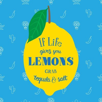 If Life Gives You Lemons Grab Tequila And Salt Premium Poster Canvas Art