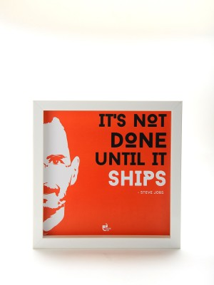 Thinkpot It's not done until it ships - Steve Jobs, Apple White Box Frame Paper Print