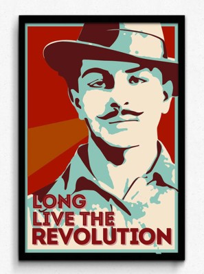 Seven Rays Bhagat Singh - Long Live the Revolution Framed (Small)