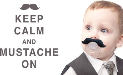 Athah Poster Keep Calm And Mustache On!! NON TEARABLE Paper Print Rolled In Cardboard Tube Paper Print