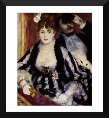 Tallenge Old Masters Collection - The Theatre Box By Pierre-Auguste Renoir - Premium Quality A3 Size Framed Poster Paper Print