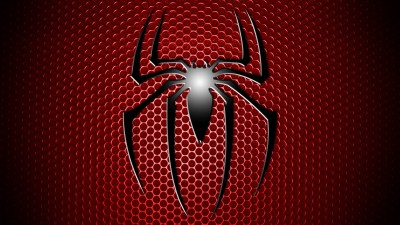 Spider-man Spider-Man Spider Man Logo Red Grid Black Simple Frameless Fine Quality Poster Paper Print