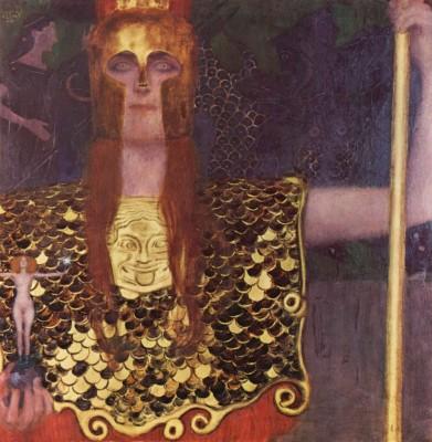 Pallas Athena by Klimt Paper Print