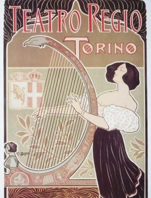 The Museum Outlet - Art Postcard - Thetro Regio Torino Paper Print