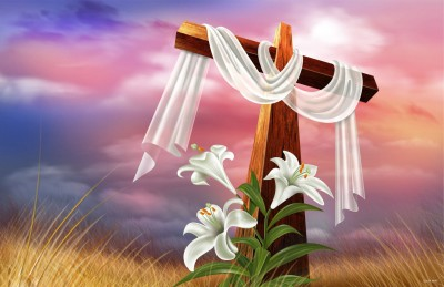 Colormart Easter Cross And Lilies Photographic Paper