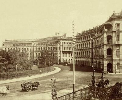 Elphistone Circle-Horniman Circle-Bombay-C.1880 Photographic Paper