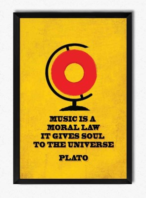 Seven Rays Music is a moral law - Plato Framed Poster Paper Print