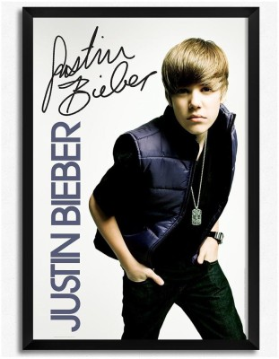 Justin Bieber (Officially Licensed) Framed Paper Print