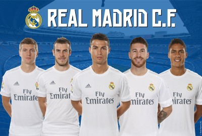 Real Madrid C.F. Large Poster Club 42 Paper Print(24 inch X 36 inch, Rolled)