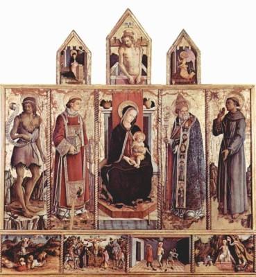 The Museum Outlet Altartafel aus San Silvestro in Massa Fermana (Medium) Canvas Painting