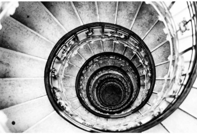 Spiral Staircases Form A Spiral Premium Poster Paper Print