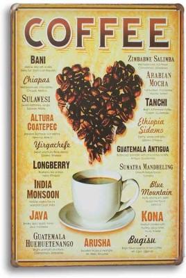 Coffee Cafe Metal Plate Fine Art Print