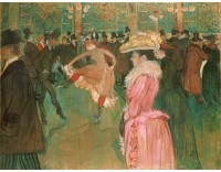 Tallenge Modern Masters Collection - At the Moulin Rouge: The Dance by Henri de Toulouse-Lautrec - A3 Size Premium Quality Rolled Poster Paper Print