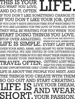 This is Your Life Paper Print(18 inch X 12 inch, Rolled)