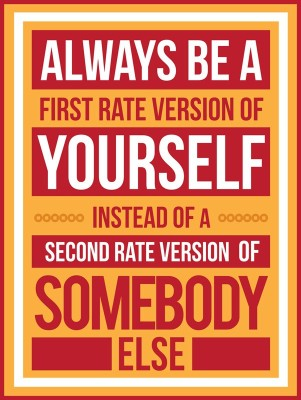 Athah Poster Always be first rate version Paper Print