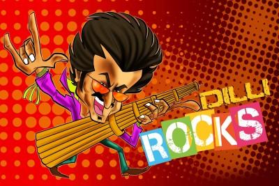 Rajnikanth Dilli Rocks Paper Print