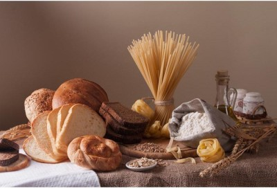 Athah Fine Quality Poster Bread Pasta And Wheat Paper Print