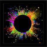 Colored Splashes Framed Art Print Canvas...