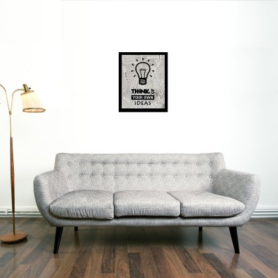 Think Of Your Own Ideas Framed Wall art With glass Photographic Paper
