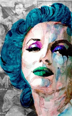 Marilyn Monroe - Pop Art Blue Paper Print(26 inch X 16 inch, Rolled)