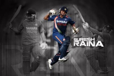 Poster Cricketer Suresh Raina 280 Photographic Paper