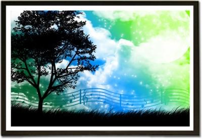 Framed Beautiful Musical Expressions Music AL Fine Art Print