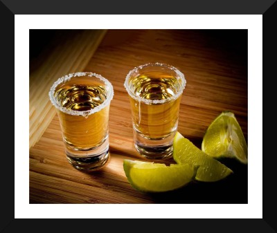 Tallenge - Tequila Shots - Premium Quality A3 Size Framed Poster Paper Print
