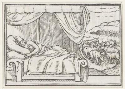 Dream of Pharaoh. 1538 (Medium) Paper Print